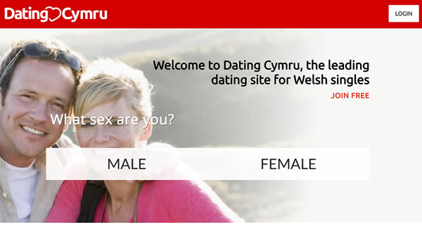Website design for Welsh Dating site