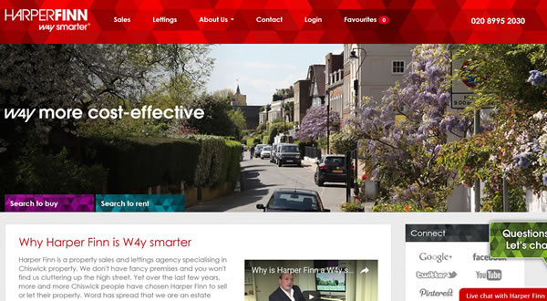 Website design for West London Estate Agent